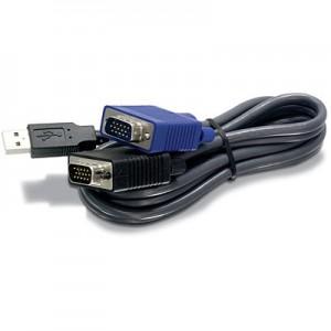 Cable KVM USB/VGA de 6 pies